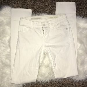 Pilcro and the Letterpress Parallel White Jeans 26